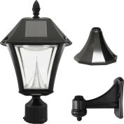 Gama Sonic 105033 Baytown II Solar LED Outdoor Light - Post/Wall Mount - Black Resin
