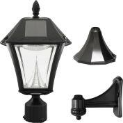 Gama Sonic 105033 Baytown II Solar LED Outdoor Light - Post/Wall Mount - Black Resin