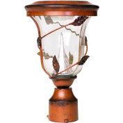 Gama Sonic 113512 Flora Solar LED Outdoor Post Light, 3-Inch-Diameter Mount, Antique Bronze