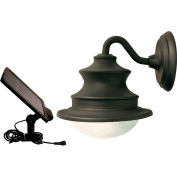 Gama Sonic 122001 Barn Solar LED Outdoor Wall Light, Brown