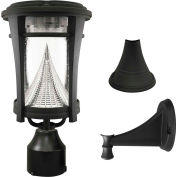 Gama Sonic 124033 Aurora Solar LED Outdoor Light, Post/Wall Mount, Black
