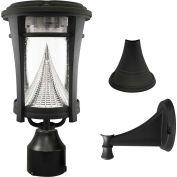 Gama Sonic 124033 Aurora Solar LED Outdoor Light, Post/Wall Mount, Black
