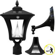 Gama Sonic 53PIR033 Weston Solar LED Outdoor Light, Post/Wall Mount, Motion Sensor, Black