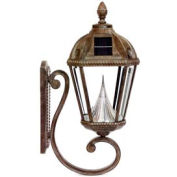 Gama Sonic GS-98W Royal Solar LED Outdoor Wall Light - Weathered Bronze