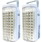 Gama Sonic DL71302 Rechargeable 40-LED Portable Emergency Light, Set of 2
