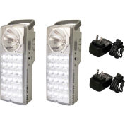 Gama Sonic DL97202 Rechargeable 24-LED Portable Emergency Light, Set of 2