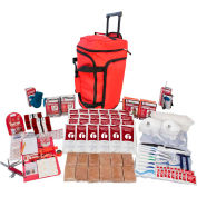 Guardian Survival Gear SKX2 2 Person Deluxe Survival Kit, Wheel Bag, Red