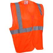 GSS Safety 1004 Standard Class 2 Mesh Hook & Loop Safety Vest, Orange, XL