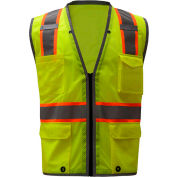 GSS Safety 1701, Class 2 Heavy Duty Safety Vest, Lime, 2XL