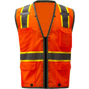 GSS Safety 1702, Class 2 Heavy Duty Safety Vest, Orange, M