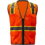 GSS Safety 1702, Class 2 Heavy Duty Safety Vest, Orange, M