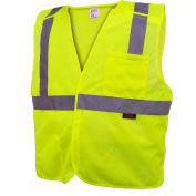 GSS Safety 1801 Standard Class 2 5-Point Breakaway Vest, Lime, Medium