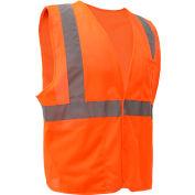 GSS Safety 3502 Class 2 FR Treated Hook & Loop Vest, Orange, 3XL