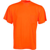 GSS Safety 5502 Moisture Wicking Short Sleeve Safety T-Shirt with Chest Pocket - Orange, Large