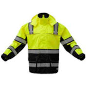 GSS Safety 6501 Rain Coat, Class 3, Lime/Black, L/XL