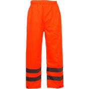 GSS Safety 6802 Class E Standard Waterproof Rain Pants, Orange, 4XL/5XL