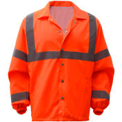 GSS Safety 7502, Class 3, Hi-Vis Windbreaker, Orange, 2XL