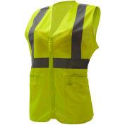 GSS Safety 7803, Class 2, Ladies Hi-Vis Safety Vest, Lime, L/XL