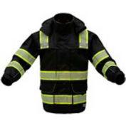 GSS Safety 8507 3-In-1 Waterproof Parka, Class 3, Black, 5XL