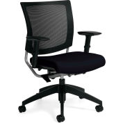 Global™ Graphic Medium Back Chair, Coal Fabric Upholstery