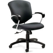 Global™ Supra Medium Back Chair, Grey Fabric Upholstery