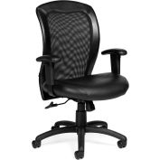 Offices To Go™ Mesh Ergonomic Chair, Black Fabric Upholstery