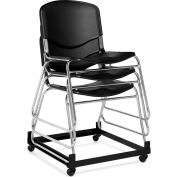 Offices To Go™ Armless Stack Chair, Black Plastic Upholstery - Pkg Qty 2
