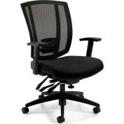 Offices To Go™ Upholstered Seat & Mesh Back Multi-Function, Black