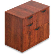 "Offices To Go™ - Mixed Storage Unit with Lock, 36""W x 22""D x 29-1/2""H, Dark Cherry"