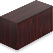 """Offices To Go™ - Wall Mounted Cabinet, 36""""W x 15""""D x 17""""H Mahogany"""