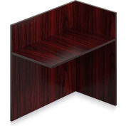 "Offices To Go™ - Reception Return Reversible, 42""W x 24""D x 41""H Mahogany"