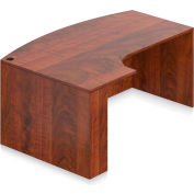 """Offices To Go™ - Bow Front w/Corner Extension Left Shell, 71""""W x 29-1/2""""H, Dark Cherry"""