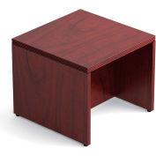 "Offices To Go™ Ventnor Veneer End Table, 24""L x 24""W, Cordovan"