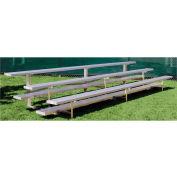 3 Row Low Rise Aluminum Bleacher, 7-1/2' Wide, Single Footboard