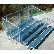 4 Row National Rep Aluminum Bleacher with Guard Rail, 9' Wide