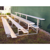 4 Row National Rep Tip and Roll Aluminum Bleacher, 7-1/2' Wide, Double Footboard