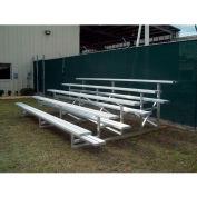 5 Row National Rep Aluminum Bleacher with Guard Rail, 9' Wide