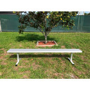 10' Aluminum Team Bench without Back, Portable