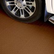 Block Tile P1US5216 Multi Purpose Flexible PVC Floor Tiles, Diamond Pattern, Brown