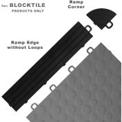 Block Tile R0US4212 Ramp Edges W/o Loops, PP Edges Pattern, Black