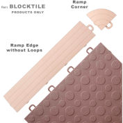 Block Tile R0US5112 Ramp Edges W/o Loops, PP Edges Pattern, Beige