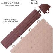 Block Tile R0US5212 Ramp Edges W/o Loops, PP Edges Pattern, Brown