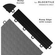 Block Tile R1US4212 Ramp Edges W/Loops, PP Edges Pattern, Black