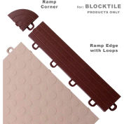Block Tile R1US5212  Ramp Edges W/Loops, PP Edges Pattern, Brown
