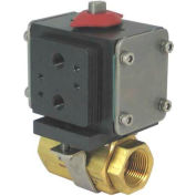 Gemini Valve® Brass Ball Valve W/500 Series Double-Acting Pneumatic Actuator, 1-1/4""
