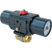 Gemini Valve® Brass Ball Valve W/500 Series Spring-Return Pneumatic Actuator, 1-1/4""
