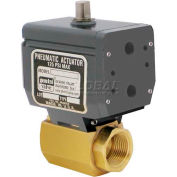 Gemini Valve® High Duty Cycle Ball Valve W/Double-Acting Pneumatic Actuator, 1/2""
