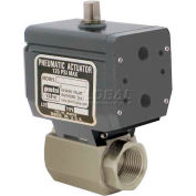 Gemini Valve® High Duty Cycle S/S Ball Valve, Double-Acting Pneumatic Actuator, 1/2""