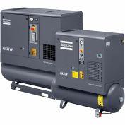 Atlas Copco GX5-150TFF, 7.5 HP, Rotary Screw Comp., 53 Gal, Horiz., 150 PSI, 21.2 CFM,1-Phase 230V