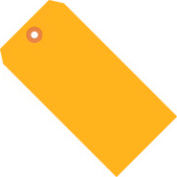 "#5 Orange Fluorescent Tag Pack 4-3/4"" x 2-3/8"" - 1000 Pack"